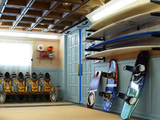 Delightful Former Blue Crab Restaurant Surfboard Storage Room