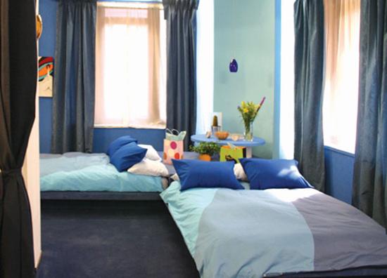 Former Girard Corn Exchange Bank Blue Bedroom